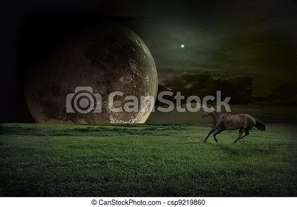 fiction landscape - csp9219860