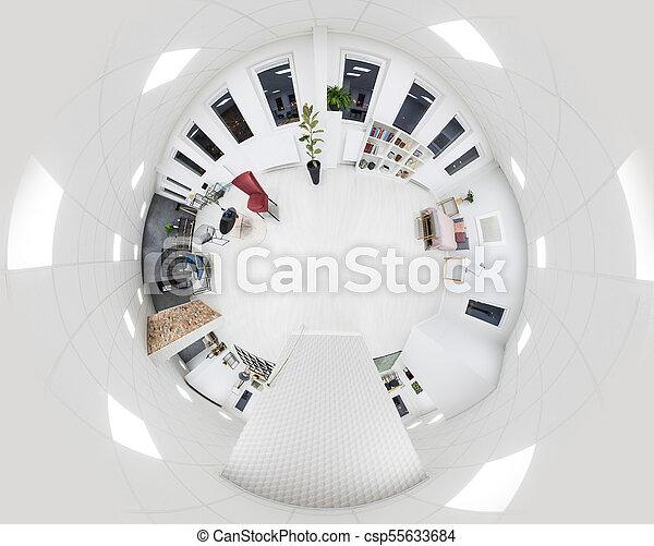 Ficus In White Apartment Interior   Csp55633684