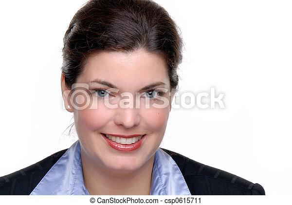 fiducioso, donna d'affari - csp0615711