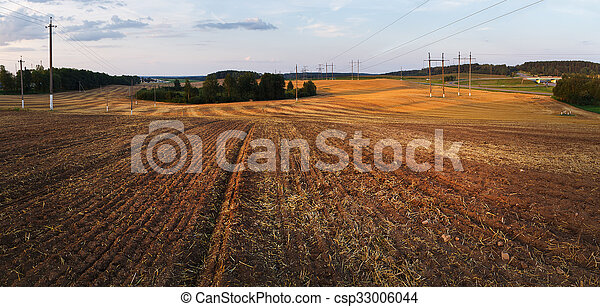 Field after harvest - csp33006044