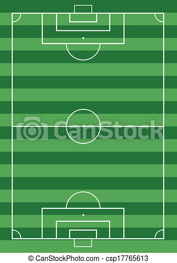 field., football, herbe, football vert - csp17765613
