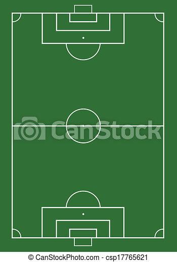 Fútbol de fútbol en el campo de césped verde. - csp17765621