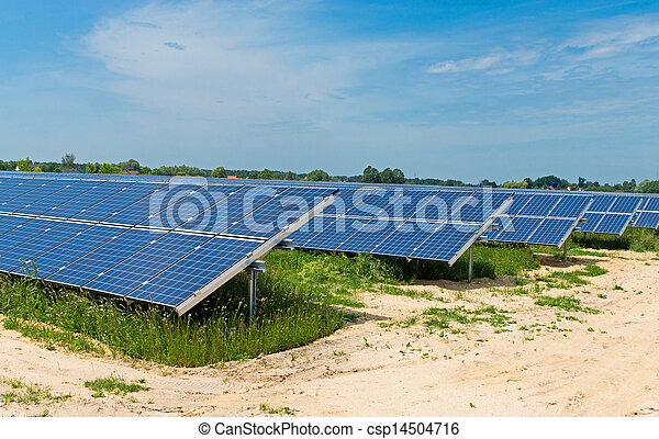 Field of solar panels - csp14504716