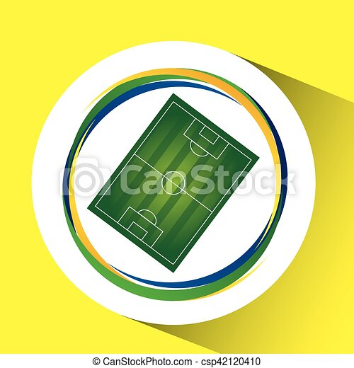 field soccer olympic games brazilian flag colors vector vector rh canstockphoto ie soccer field clipart black and white