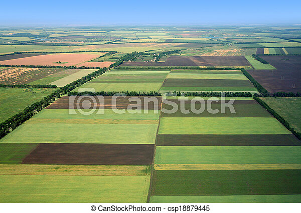 Fields. Aerial view. - csp18879445