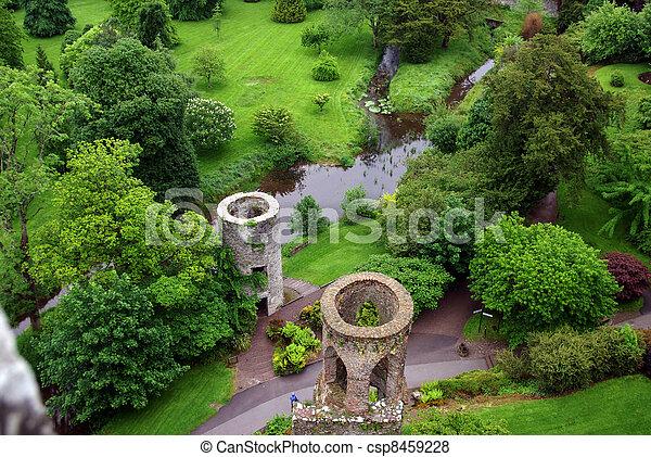 Fields around Blarney Castle in Ireland - csp8459228