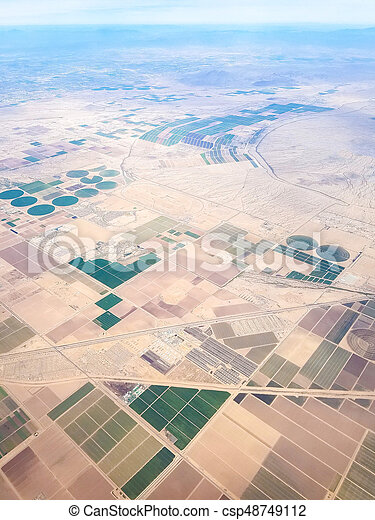 Fields of Arizona, USA - csp48749112