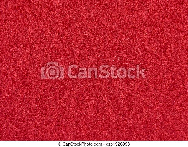 fieltro, plano de fondo, rojo - csp1926998