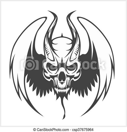 Fierce Gargoyle-Fantasy Winged Beast - csp37675964