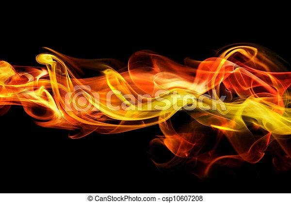 fiery, 煙, 背景 - csp10607208