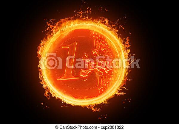 fiery Euro - csp2881822