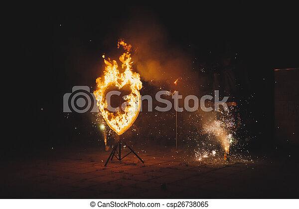 Fiery heart 1897. - csp26738065