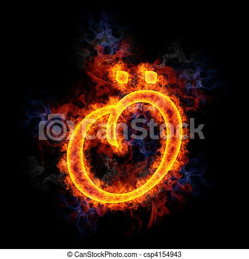 Fiery letter ?. - csp4154943
