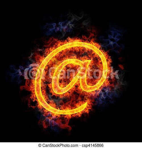 Fiery letter @. - csp4145866