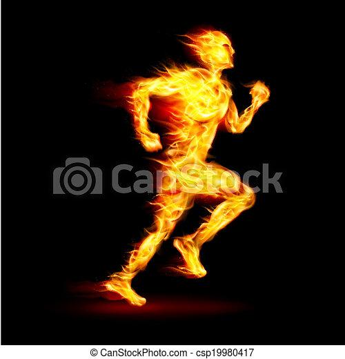 Fiery running man - csp19980417