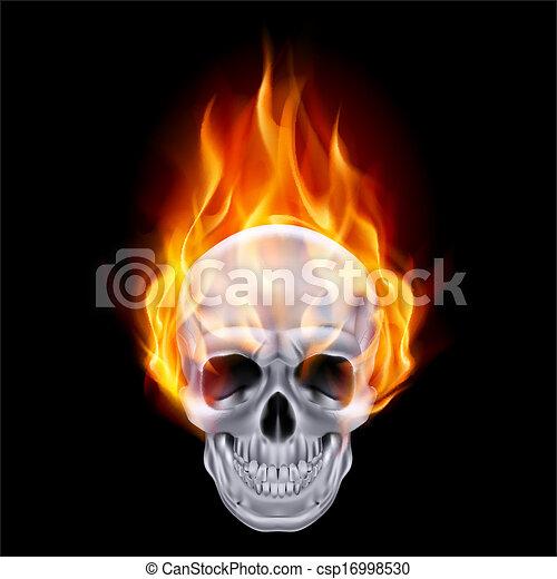 Fiery skull. - csp16998530
