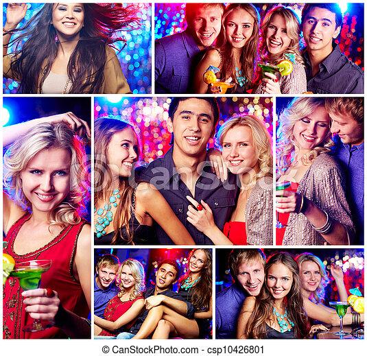 Amigos en la fiesta - csp10426801