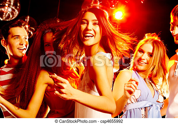 fiesta, bailando - csp4655992