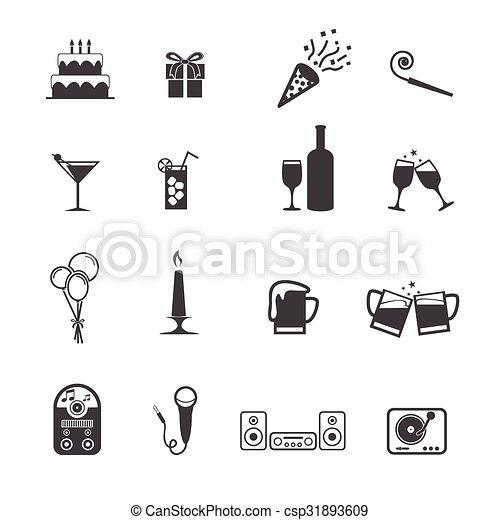iconos de fiesta listos - csp31893609