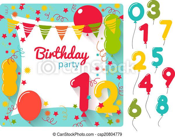 Invitación de cumpleaños - csp20804779