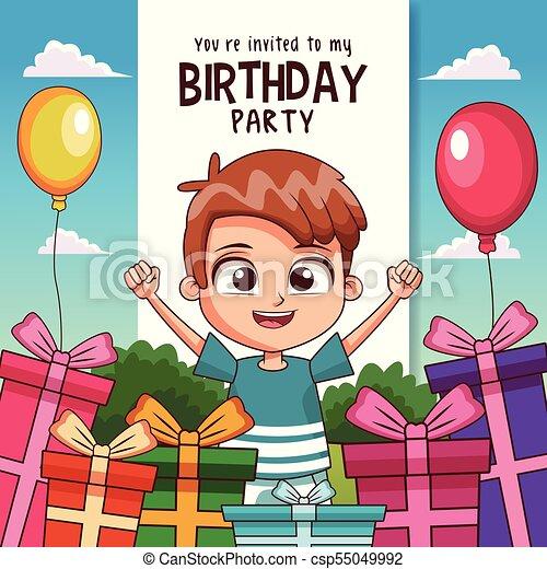 Invitación De Tarjetas De Cumpleaños Para Niños Los Niños