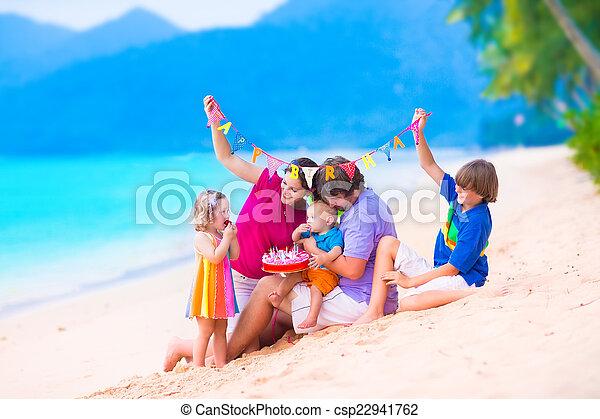 Fiesta Cumpleanos Playa Lindo Poco Playa Comida Bebe