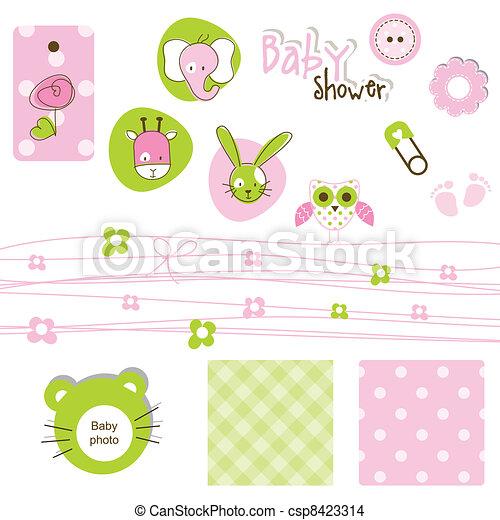 Elementos de ducha de bebé - csp8423314