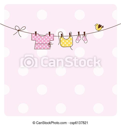 Tarjeta de invitación para el baby shower - csp6137821