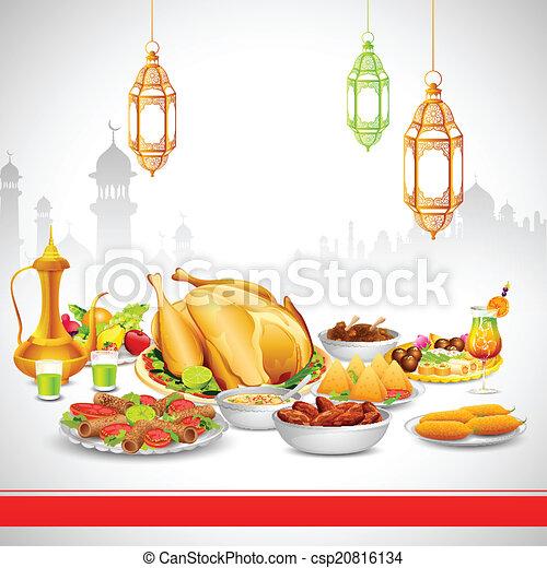 Deliciosos platos para la fiesta de Iftar - csp20816134