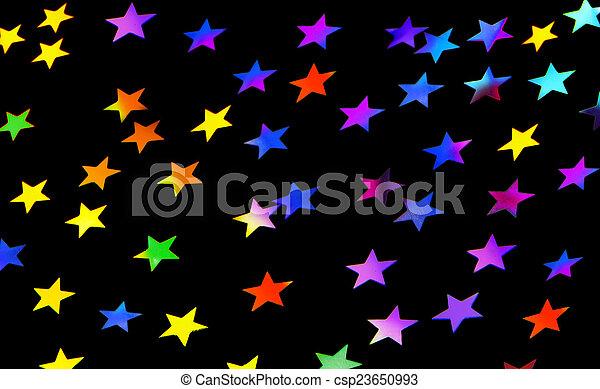 Estrellas festivas de fondo de fiesta - csp23650993