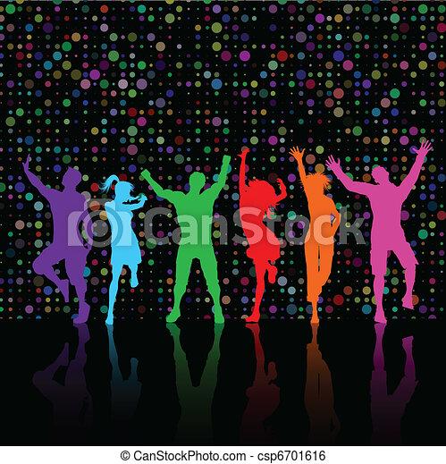 Gente de fiesta bailando - csp6701616