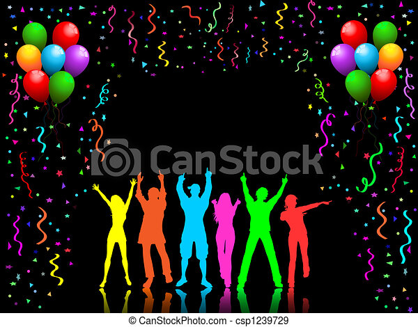 Gente de fiesta bailando - csp1239729