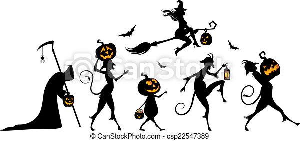 Fiesta de Halloween - csp22547389