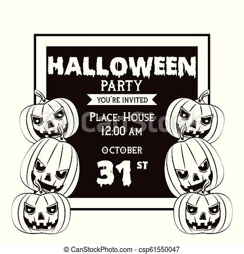 Fiesta Halloween Tarjeta Invitación Asustadizo Gráfico