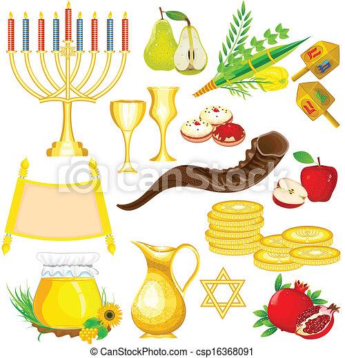 Objeto del festival de Israel - csp16368091