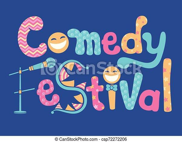 La ilustración del festival de comedia - csp72272206