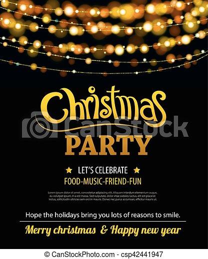 Invitación De Feliz Fiesta De Navidad Carteles Y Plantilla