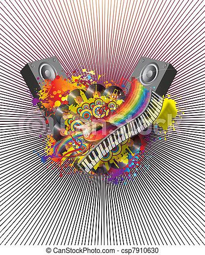 Fiesta musical - csp7910630