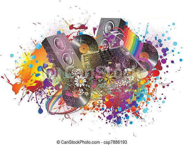 Fiesta de música - csp7886193