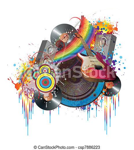 Fiesta de música - csp7886223