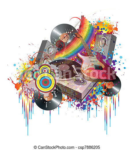 Fiesta musical - csp7886205