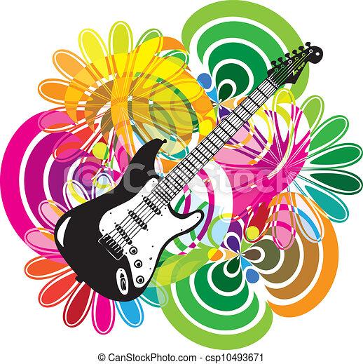 Ilustración del festival de música - csp10493671