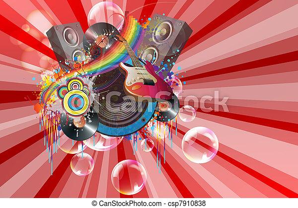 Fiesta musical - csp7910838