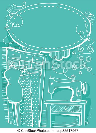 Cosiendo el cuadro de invitados - csp38517967