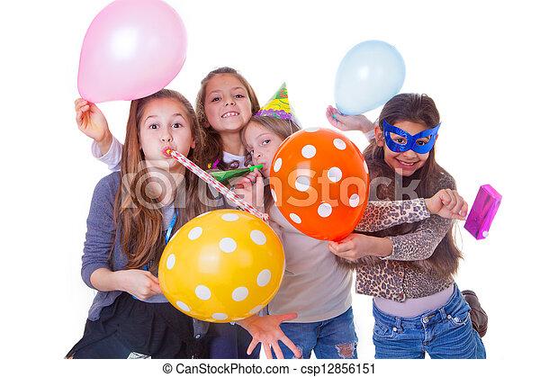 fiesta, niños, cumpleaños - csp12856151