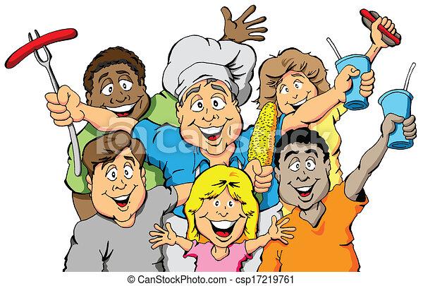 Invitación de fiesta de picnic - csp17219761