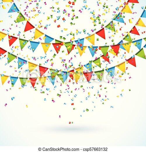 Celebra La Ilustración Con Banderas De Fiesta Y Confeti