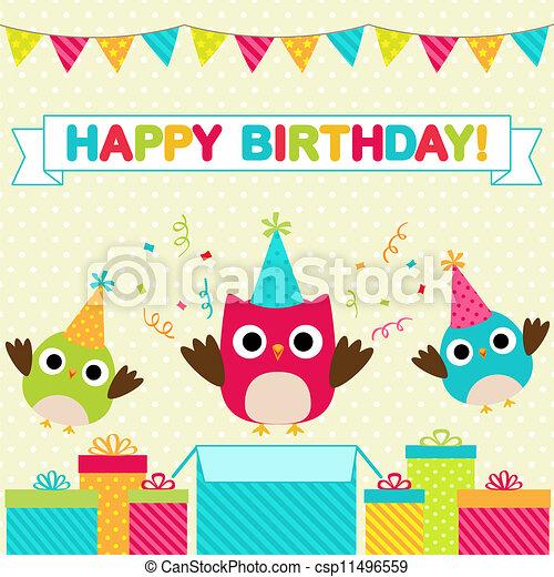 Tarjeta de cumpleaños - csp11496559