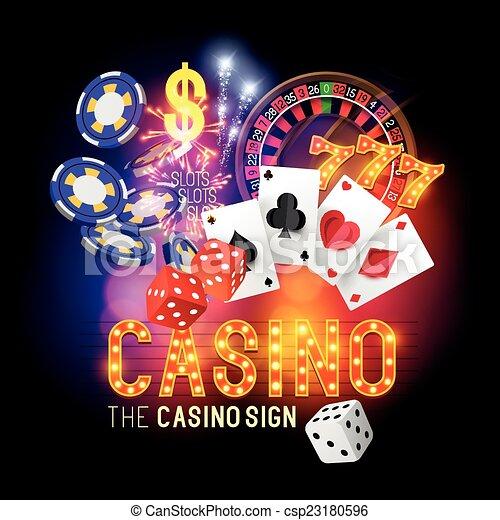 Vector del partido de casino - csp23180596