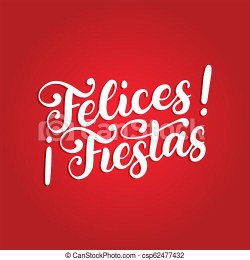Felices Fiestas Frase Escrita A Mano Traducida De